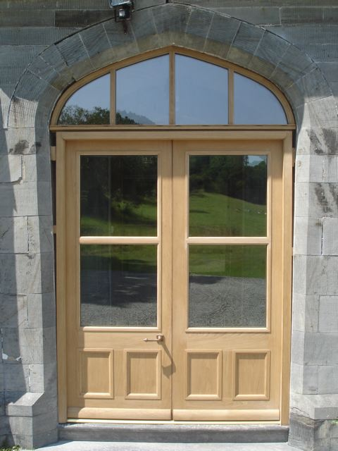 Tudor Style Doors With Gothic Head